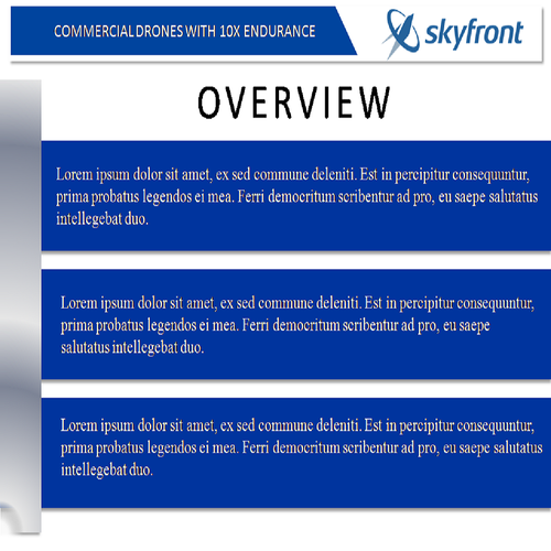 High-tech drone company powerpoint | PowerPoint template contest