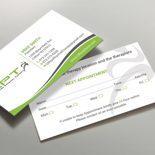 Physical Therapy Office Needs Effective Business Cards Business
