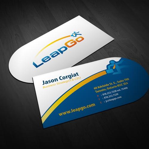 Leapgo needs an awesome new business card concurso papelaria design finalista por nerdvana reheart Image collections