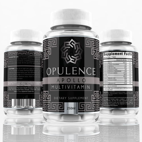 New Luxury Supplement and Health Brand with designs from