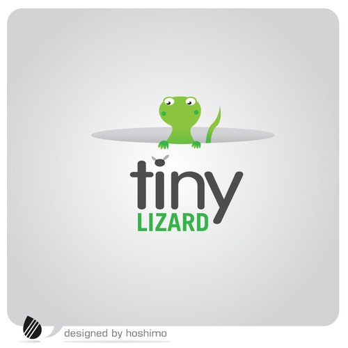 Tiny Lizard Logo Design by hoshimo
