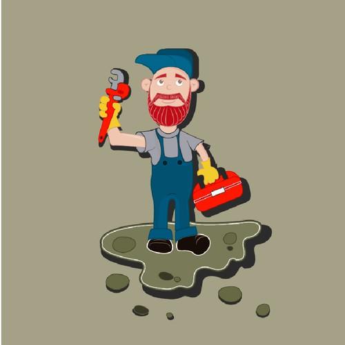 Cartoon Character Design Contest : Human cartoon plumber contest character or mascot
