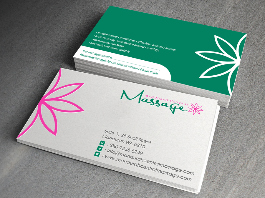 Mandurah Central Massage needs a new logo and business card | Logo ...