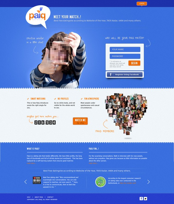 dating site website design