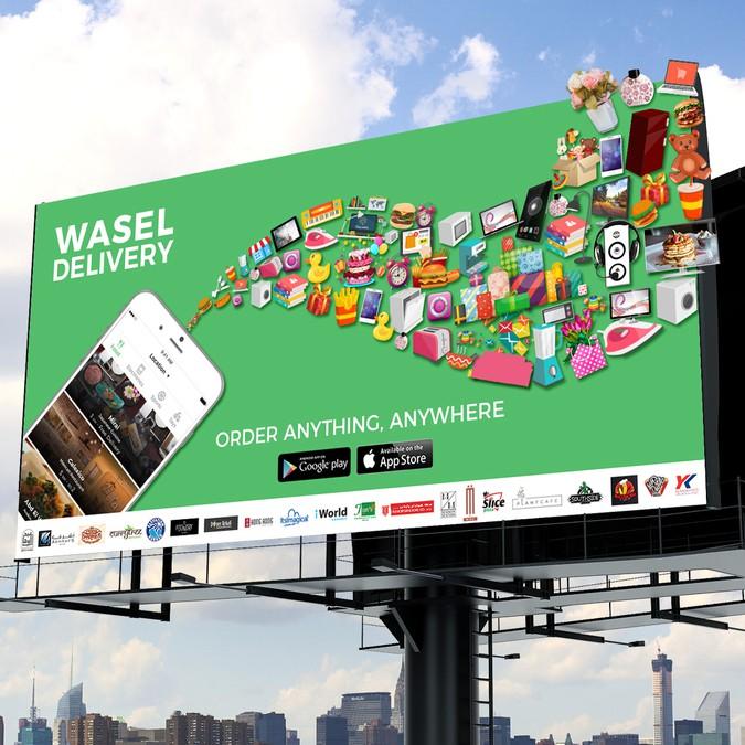 Delivery Based App - Design a Unique Billboard | Signage contest