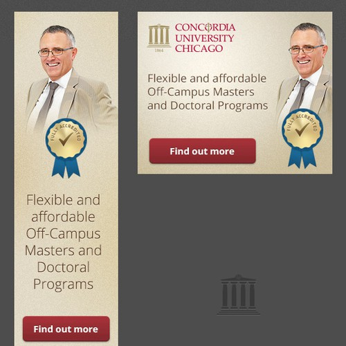 Create the next banner ad for Concordia University Chicago