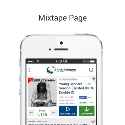 LiveMixtapes iOS App Design | App design contest