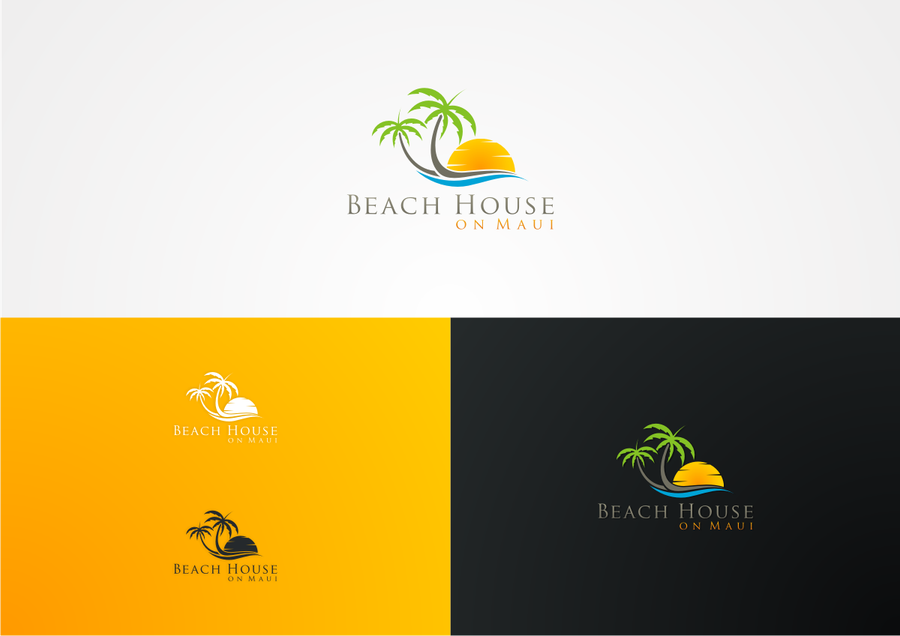 Beach house rental logo logo design contest Logo design competitions