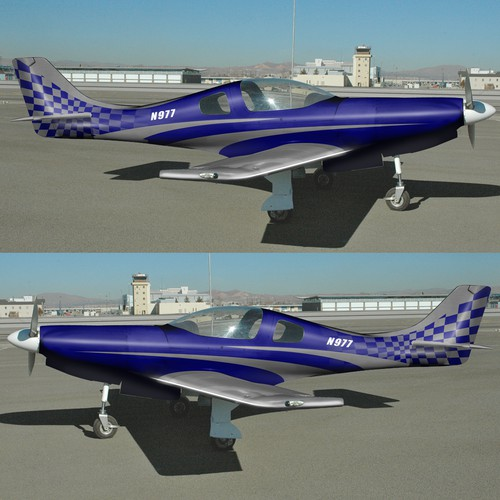 Lancair 360 Aircraft Paint Scheme to paint on to plane (not