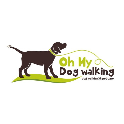Create a fun irresistible dog & great font for oh my dog walking