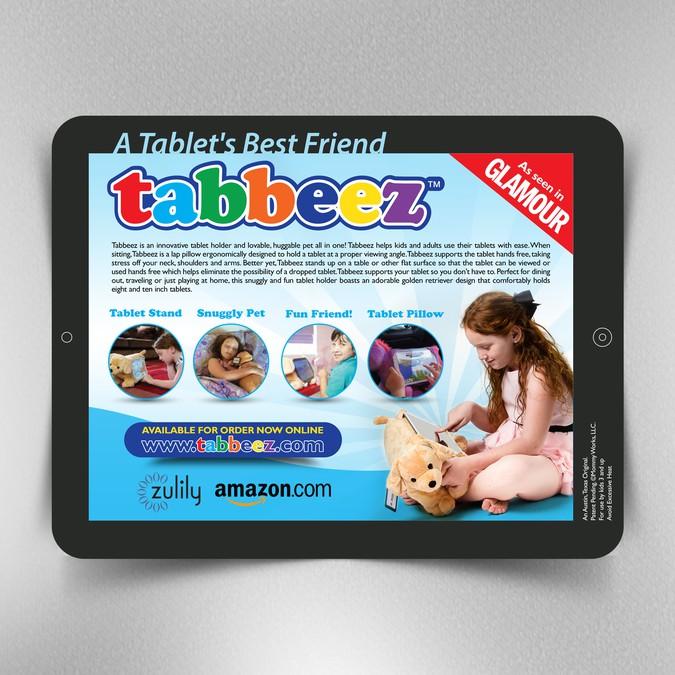 Stuffed Animal Tablet Holder Needs Catchy Mock Tablet Design To Show