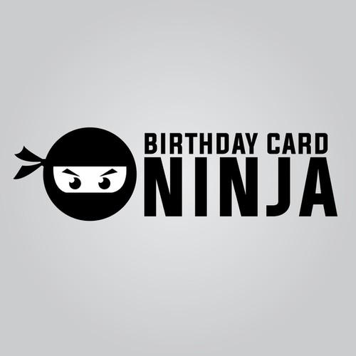 Create A Playfulsimple Ninja Logo Design For Birthday Card
