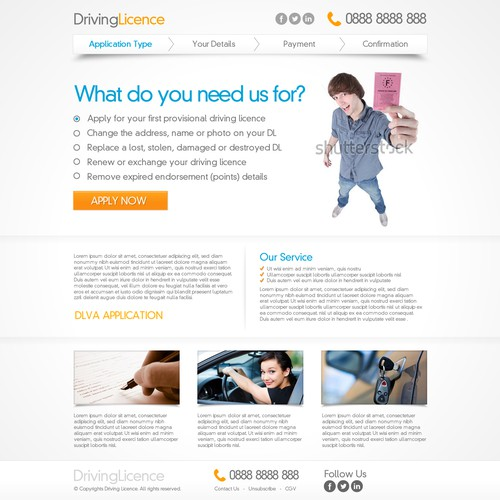 Help a UK Driving Licence website with a new webdesign | Web