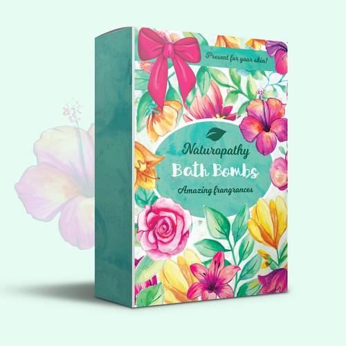 Design a Gift Package for Naturopathy Bath Bombs Ontwerp door Daria V.