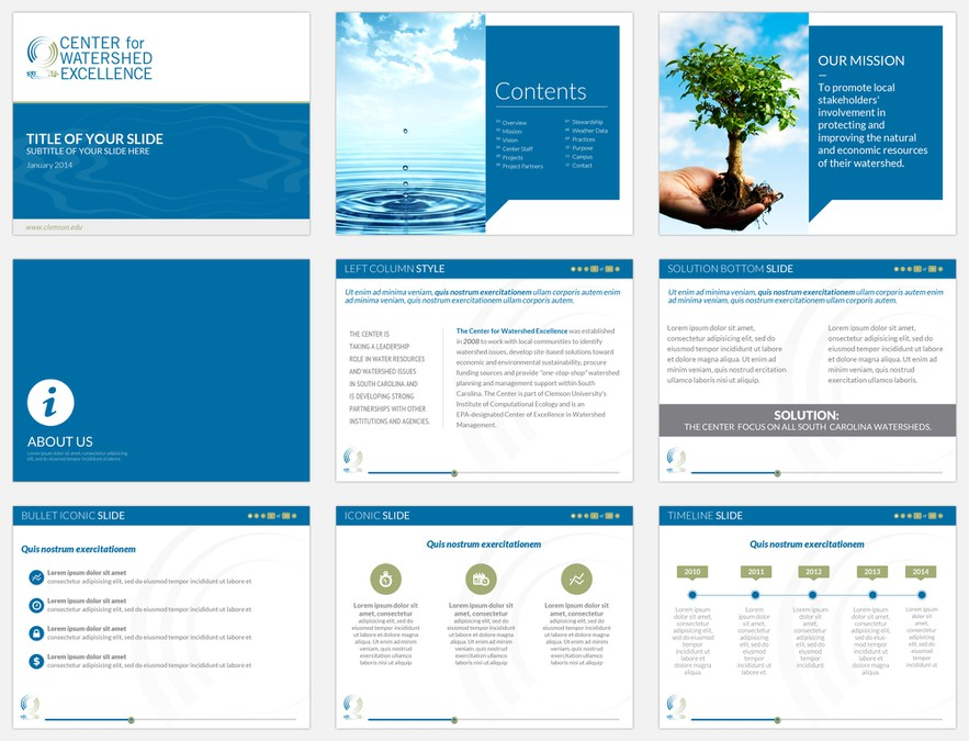 Design a memorable modern powerpoint template for elearning content other business or - Ontwerp leuning ...