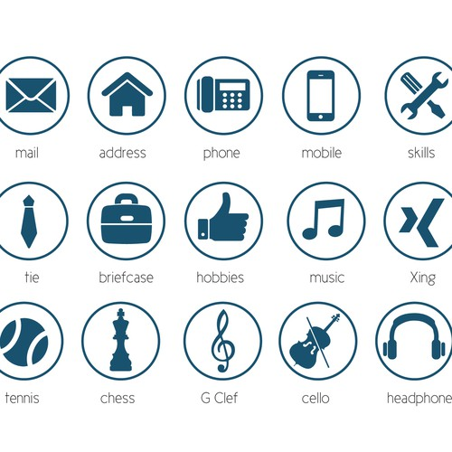 20 Modern Icons For Personal Cv Resume Icon Or Button Contest 99designs