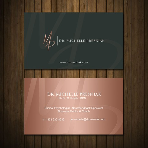 Modern Yet Warm Business Card Design For A Psychologist Business Card Contest 99designs