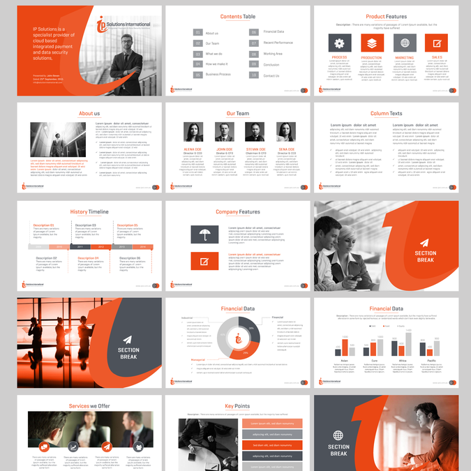Create A Clean Modern Powerpoint Template For Ip Solutions