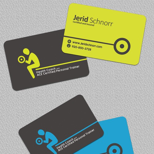 Personal trainer business card business card contest runner up design by mza jp colourmoves