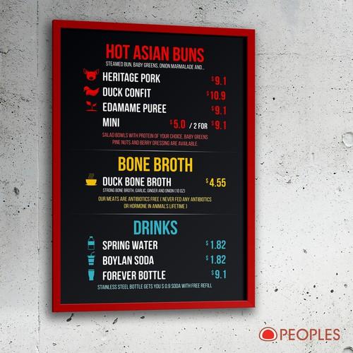 food truck menu board design メニューコンペ