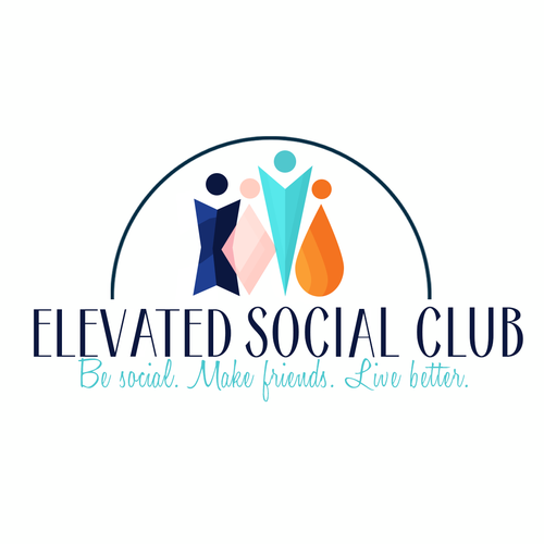 Eye Catching Logo For A New Social Club We Re Helping Grownups Make Friends Logo Design Contest 99designs