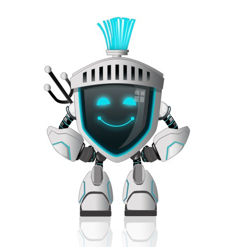 Design a cyberwarrior mascot for Pentester Academy | Character or
