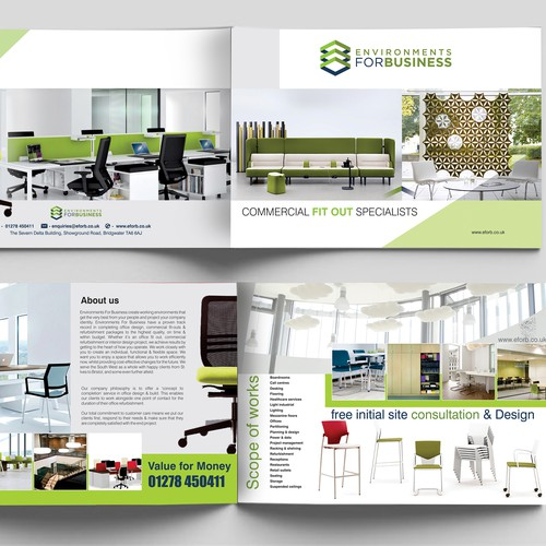 Design a mailer for a commercial interior design company for Commercial interior design companies