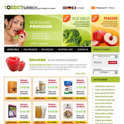 Design finalista por WebsiteTemplates.bz
