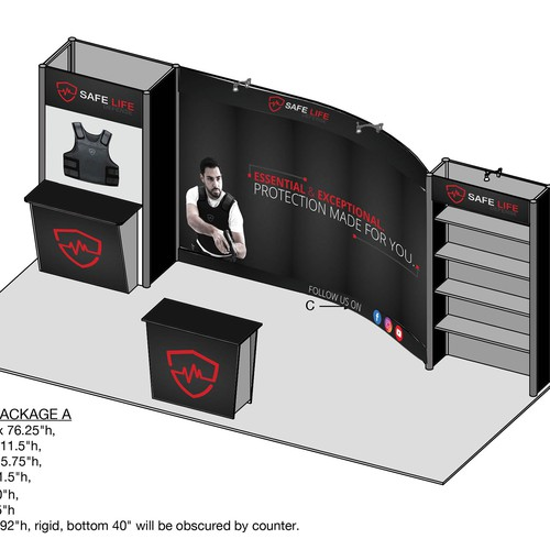 Design A Minimalist Trade Show Booth For Safe Life Defense