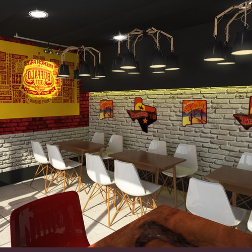 We look for the best interior d design fast food