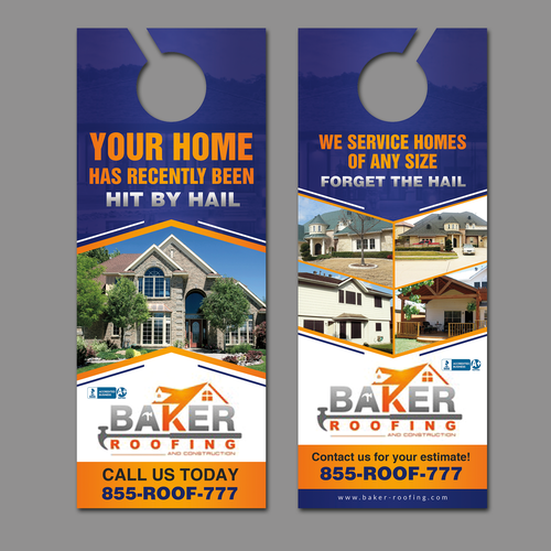 Grab My Attention With A New Door Hanger For Baker Roofing
