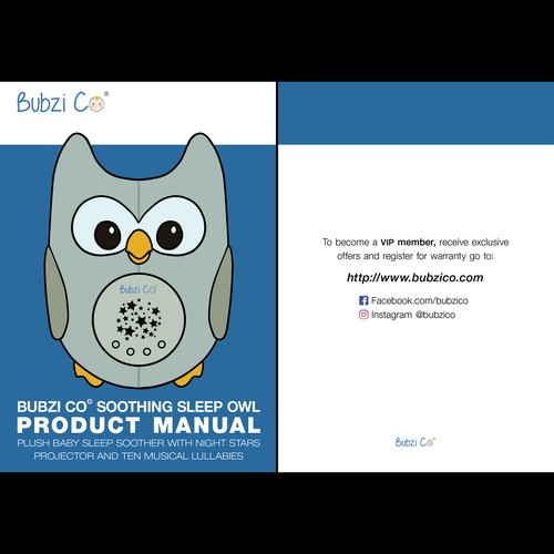 Design An Instruction Booklet For a Baby Soother Product | Brochure