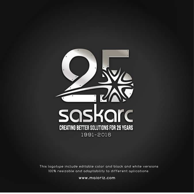 Create A Modern Masculine Logo For Our 25th Anniversary