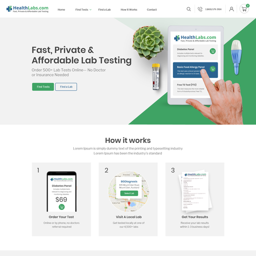 Create a Professional Website for HealthLabs com | Web page