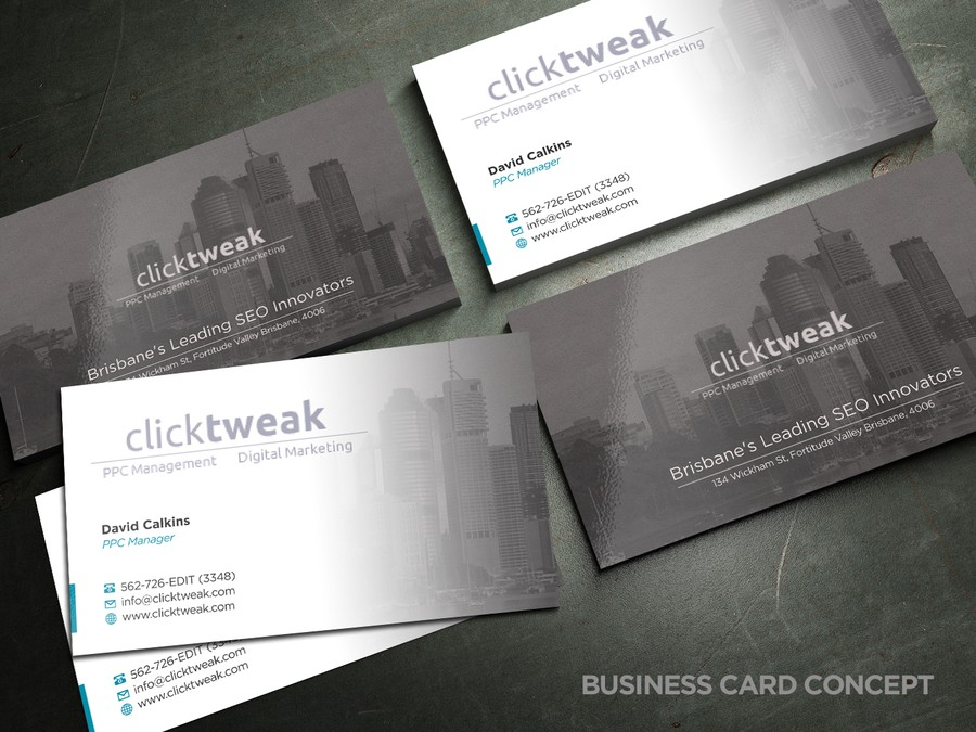 Minimal business card design for a seo online marketing company in winning design by bagazz colourmoves