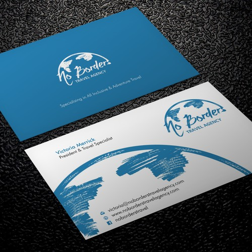 Create a captivating business card for no borders travel agency runner up design by xclusive16 colourmoves