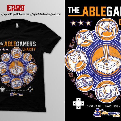 *Guaranteed Prize* Create a cool video game related T-shirt for AbleGamers charity Design by Eko Pratama - eptm99