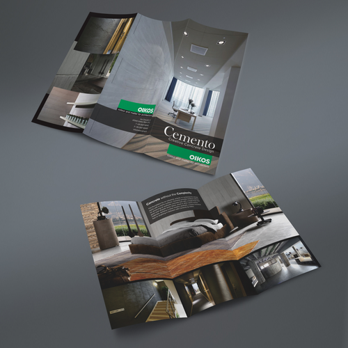 Design a minimalist brochure for a high end interior for High end interior design companies