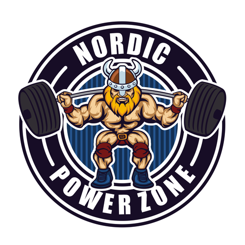 Professional And Modern Weightlifting Viking For Gym Logo