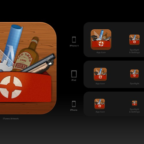 New iOS App Icon for 'TF2 Recipes' | Concours: Bouton ou icone