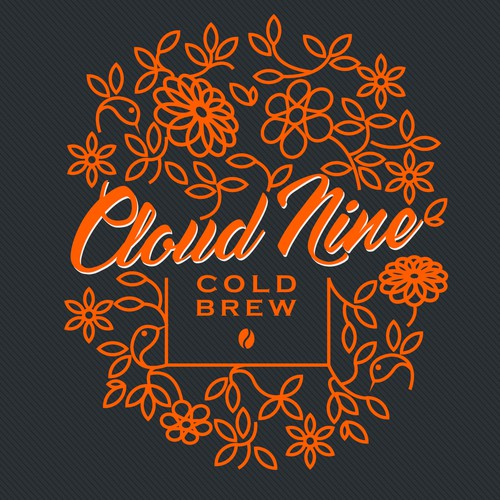 Cloud Nine Cold Brew Contest Design by KisaDesign