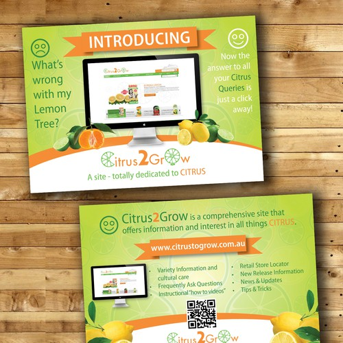 Citrus Site needs eye catching Promotional Post Card with zest and zing Design by Julié9