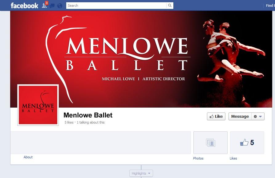 Social media page design contest - 99nonprofits: Design a new Facebook cover for Menlowe Ballet, an exceptional non-profit ballet company! - 웹