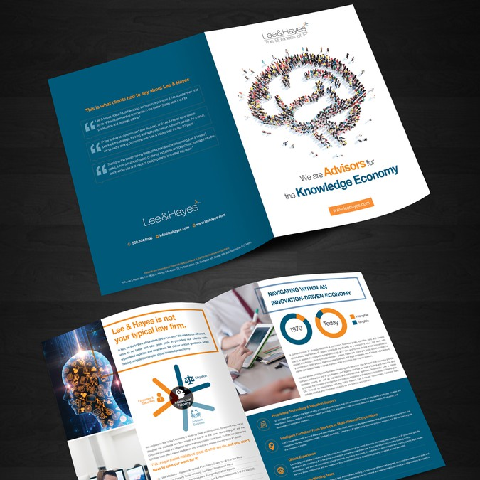 Intellectual property law firm brochure | Broschüre Wettbewerb