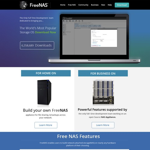 FreeNAS org Redesign - Wanted: a responsive multi-page parallax