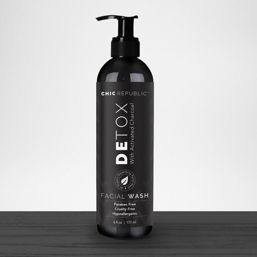 Cool Edgy Label for Face Wash Ontwerp door agooshe