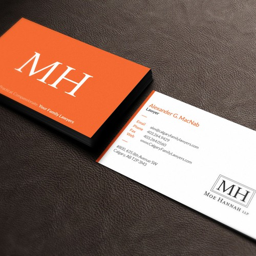 business card design for family law firm business card contest