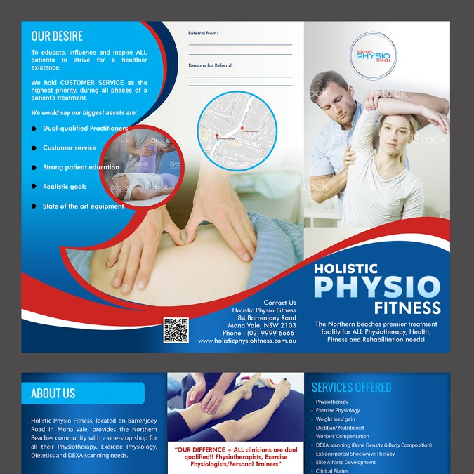 physiotherapy clinic needs professional pamphlet postcard flyer