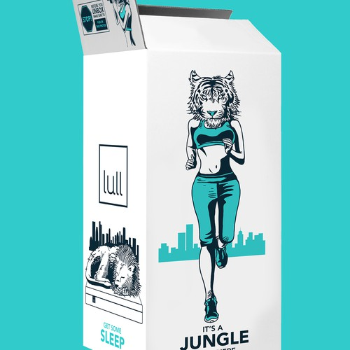 Illustrate an awesome urban jungle onto our lull mattress