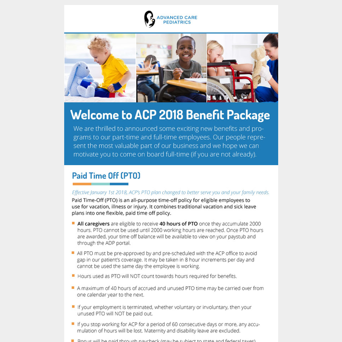 benefit package banner ad contest